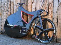 The stylish Pluma Track Bike Prototype, made by carbon fiber, designed to minimizing drag.