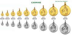 """Medaglia realizzabile in argento ed in oro """"Madonna del Carmine"""""""