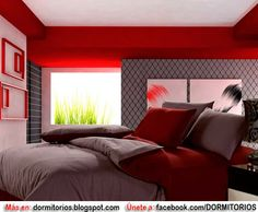 Gray And Red Colored Cotton Bedding Sets
