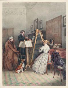 L. Rossi (actif en Allemagne et en France, vers 1850), La réunion musicale, vers 1850 © Cooper-Hewitt, National Design Museum, Smithsonian Institution, photo Matt Flynn