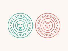 Dog & Cat by Alfrey Davilla Dog Logo Design, Web Design, Food Graphic Design, Badge Design, Design Ideas, Pet Branding, Branding Design, Logo Inspiration, Bussiness Card