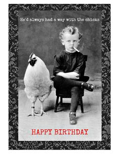 Chicks Birthday Card. Birthday Cards for Men