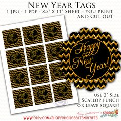 Printables New Year Party Tags Printable Party Labels New