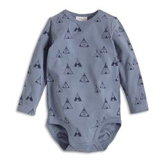 Patterned Bodysuit, Blue, Baby 0-1 Year, Kids | Lindex