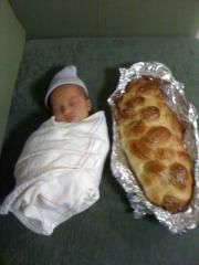 """First shabbat. - Going to do this with MY """"little challah"""" when he/she get here soon!"""