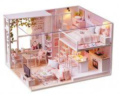 Doll House Furniture Miniature DIY Miniature House Room Box Theatre Toys for Children Casa DIY