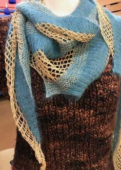 STUNNING LACE MOUNTAIN PINES SHAWL to KNIT by TWO OLD BAGS
