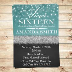 Modern black faux gold glitter sweet 16 invitations sweet 16 choose a personalized invitation sweet sixteen for your big sweet sixteen what stunning lights and solutioingenieria Choice Image