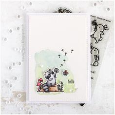 mama elephant dandelion wishes Unique Cards, Cool Cards, Creative Cards, Diy Cards, Mama Elephant Stamps, Karten Diy, Elephant Birthday, Dandelion Wish, Animal Cards
