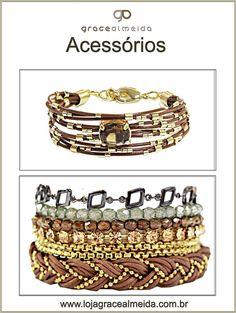 Acessórios para esquentar o look e deixar o visual mais moderno!!! PULSEIRA COURO TOPÁZIO + PULSEIRA CANDY COLORS 2 VOLTAS Na loja virtual: www.lojagracealmeida.com.br