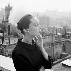 Audrey Hepburn photographed by Cecil Beaton at the Hassler Hotel, Rome, January…
