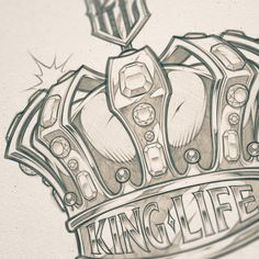 Concept Sketches of mascots. Card Tattoo Designs, Crown Tattoo Design, Tattoo Design Drawings, Tattoo Sketches, Crown Tattoo Men, Diamond Crown Tattoo, Chicano Lettering, Graffiti Lettering, Typography