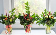 Organic Edible Bouquet  made from Fresh Herbs and by bicigirl, $48.00
