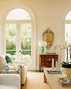Arched transoms over French doors, I   want the panes in the windows