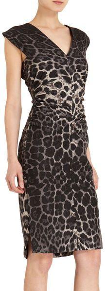YSL Sleeveless Leopard Dress