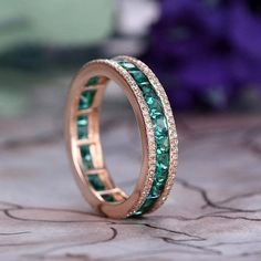 Jewelry OFF! Jewelry Rings, Jewelery, Jewelry Accessories, Emerald Wedding Rings, Emerald Band Ring, Wedding Jewelry, Anniversary Rings, Wedding Anniversary, Eternity Ring