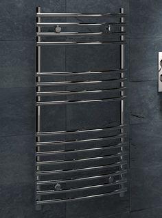 Kudox Designer Towel Rail Leamington x Chrome Towel Rail, Chrome, Design, Towel Racks
