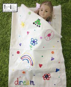DIY Doll Size Fashion Sleeping Bags