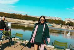 Eva Chen in a Mother of Pearl coat