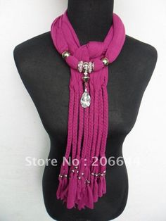 popular jewelry scarves mixed color weaving + wear bead ...
