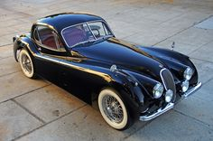 archaictires: 1953 Jaguar XK120 Fixed Head Coupe