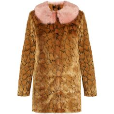 Shrimps Fifi leopard-print faux-fur coat (20,650 PHP) ❤ liked on Polyvore featuring outerwear, coats, leopard, print coat, leopard print faux fur coat, polka dot coat, brown coat and brown faux fur coat
