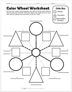 4 Best Images Of Color Wheel Worksheet Printable Blank