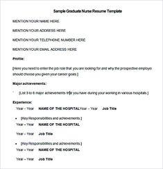 sample graduate nurse resume template template nurse resume template and general resume writing tips