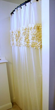 mama says sew: Flower Petal Shower Curtain