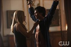 """The Murder of One""--LtoR: Claire Holt as Rebekah and Ian Somerhalder as Damon on THE VAMIPIRE DIARIES on The CW. Photo: Bob Mahoney/The CW ©2012 The CW Network. All Rights Reserved."