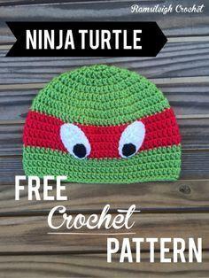 Ninja turtle hat FREE PATTERN! Ramsileigh Crochet