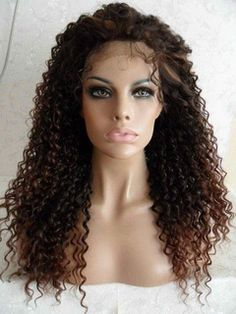 Discount+Afro+Small+Curly+Long+Synthetic+Lace+Front+Wig+26+Inches