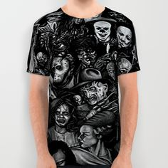 Famous movie characters All Over Print Shirt by Dkskustomgear. Worldwide shipping available at Society6.com. Just one of millions of high quality products available.