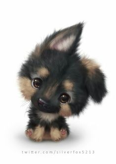 The cutest dog ever! - Chiara - cutest : The cutest dog ever! Baby Animals Super Cute, Cute Little Animals, Cute Funny Animals, Cute Animals To Draw, Cute Drawings Of Animals, Cutest Animals, Adorable Drawings, Baby Animal Drawings, Cute Kawaii Animals