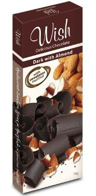 ''WISH'' Dark Chocolate with Almond (without sugar) Sugar Free, Wish, Almond, Chocolate, Coffee, Dark, Drinks, Green, Food