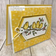 """This is a Bonus Card for my featured stamp set """"Free As A Bird Bundle"""". The bundle includes the stamp set and the Stitched Nested Labels Dies. Fancy Fold Cards, Folded Cards, Bird Cards, Friendship Cards, Stamping Up Cards, Card Making Techniques, Copics, Paper Cards, Homemade Cards"""