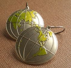 Around the World Earrings... If someone could tell me where can I buy those... I would be happy like a happy child ^^