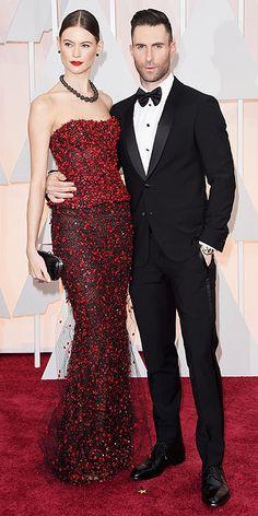 Behati Prinsloo and Adam Levine Oscars 2015