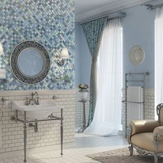 Amazing shabby chic master bath using our recently launched Dentelle Series talk about old school cool!! #bath #layout #sink #house #home #houzz #oldschool #retro #luxury #h #moroccan #glazziotiles #bathroom #interiordesigner #decor #ambiance #tileaddiction #tilesetter #tile #tiles #shabbychic #interiordesigner #decor #ambiance #bathroom #glazziotiles #glazzio by glazzio_tiles