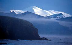 Akutan Island seen from the Baby Islands, Aleutian Islands, Alaska