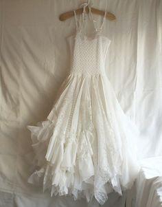 Clothing Upcycled Shabby Chic | ... Romantic Dress Upcycled Woman's Clothing Shabby Chic Funky Eco Style