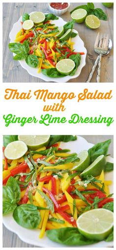 Sweet mango, spicy jalapeno, crisp bell pepper, and a tangy ginger-lime dressing. This is summer, y'all!