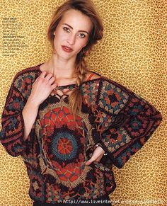 Crochet Sweater Pattern--this is the first one that I've really liked for an adult with the granny motif.
