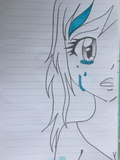 There are so many people who can draw beautiful pictures now. They can draw amazing paintings with a pencil. The most important thing to draw… Anime Drawings Sketches, Cool Art Drawings, Pencil Art Drawings, Kawaii Drawings, Cartoon Drawings, Easy Drawings, Sad Girl Drawing, Pencil Drawing Inspiration, Art Du Croquis