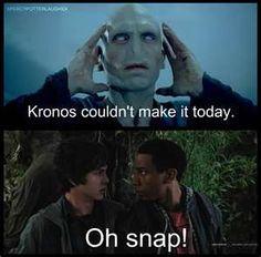 =) Percy and Grover meet Voldemort. Lol Look at their faces!