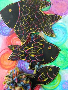 the vintage umbrella: Scratch #Art #Fish