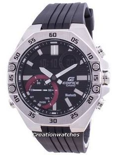 Stainless Steel Case, Resin Strap, Quartz Movement, Mineral Crystal, Black Dial, Analog Digital Display, LED Light, Mobile Link. Seiko 5 Military, Mens Watch Brands, Casio Edifice, Victorinox Swiss Army, Watch Model, Casio G Shock, Casio Watch, Stainless Steel Case, Chronograph