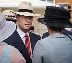 The Earl of Wessex talks to guests at a Buckingham Palace Garden Party held to mark the 150th anniversary of the Cadet Movement, 6 July 2010.© Press Association