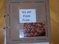 pizza box class book
