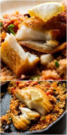 Crispy pan seared fish is full of fresh and seasonal flavors! This crisp halibut with tomato basil quinoa is a healthy and naturally gluten free meal that's easy, quick, and satisfies! Recipe on sallysbakingaddiction.com